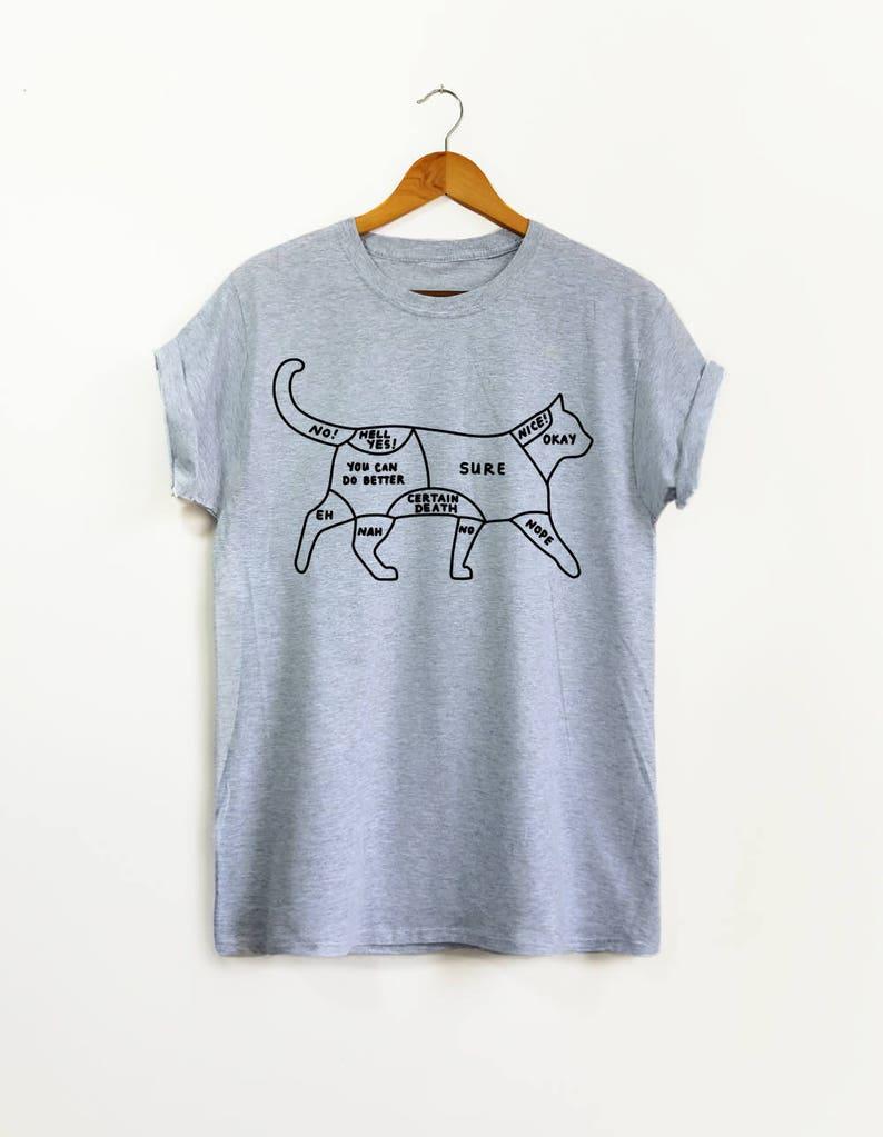 8f9f11cc77 Cat Petting Guide Cat Shirt Graphic Tee Cat Mom Cat | Etsy