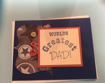 Worlds Greatest Dad Card