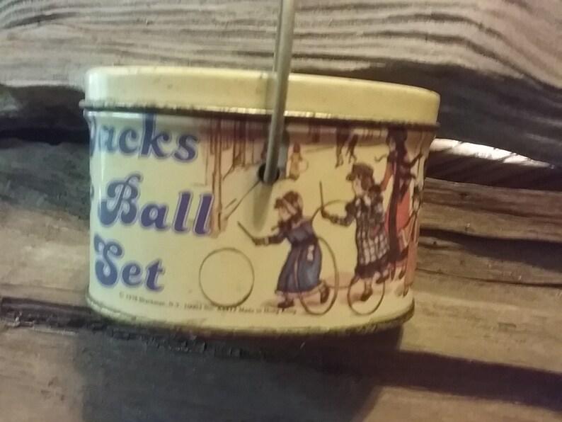 Jax and Ball Set 1978 Tin Vintage Tin Free Shipping Jax and Ball Game
