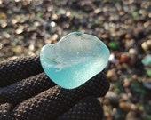 Genuine sea glass. Light aqua blue sea glass. Real sea glass. 4030