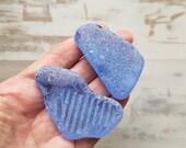 Large Cornflower Blue sea glass Japan Sea sea glass Surf-tumbled sea glass 3821