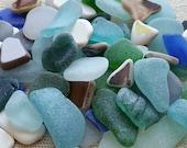 Bulk sea glass and sea pottery mix Sold by weight Genuine sea glass Authentic sea glass by pound Beach decor, sea decor, decor kit 1236