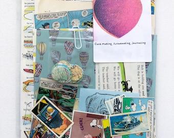 Pattern /& Print  Vintage Book Pages  100 Pieces  Blind Bumper Packs  Ephemera Pack  Scrapbooking  Card Making  Journaling
