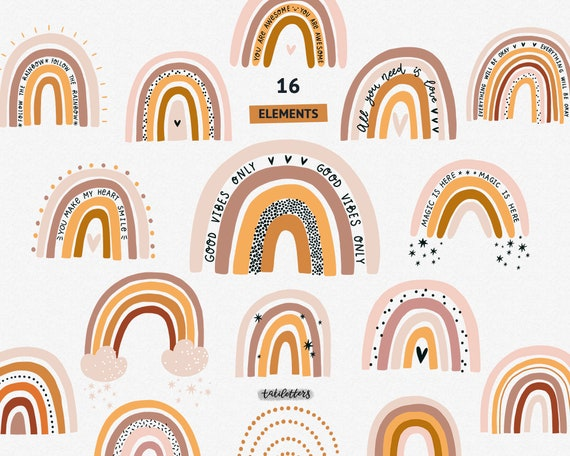 2 Boho Rainbow SVGs *COMMERCIAL USE*