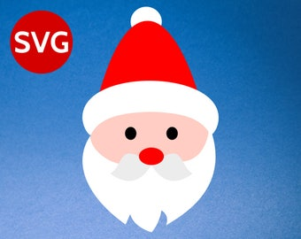 Santa Face SVG - Santa Face Clipart - Santa Claus SVG - Santa SVG - Christmas SVGs files for Cricut & Silhouette