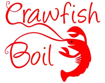 Crawfish Boil SVG file and Printable Crawfish Boil Invitation Clipart