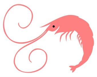 A very happy Shrimp SVG file with a big smile