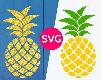 Pineapple SVG file for Cricut & Silhouette, SVG Pineapple svg cut file + Monogram frame, Tropical SVG files, Pineapple clipart