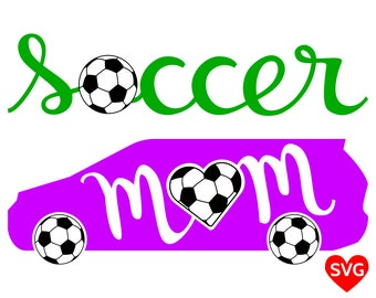 Soccer Mom Car SVG File for Cricut & Silhouette, a beautiful Soccer Mom SVG design to make shirts and vinyl decals