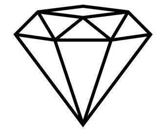 Diamond Outline SVG cut file for Cricut and Silhouette to make Engagement invitations and party decor