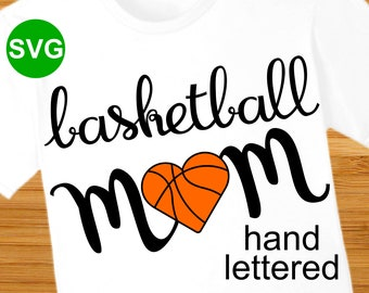Basketball Mom SVG File and Printable Clipart to make a Basketball Mom shirt or gift to wear during the game to cheer the team!