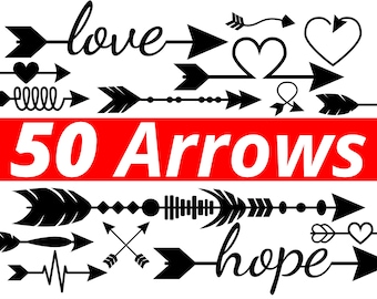 50 Arrow SVG Files and Arrows Clipart in DXF, PDF, Eps and Png