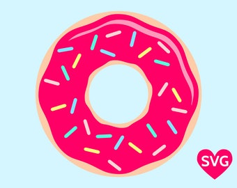 Sprinkle Donut with Candy Printable Clipart and SVG file for Cricut and Silhouette