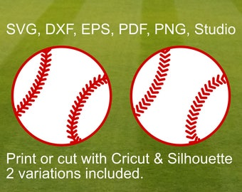Baseball Ball SVG cut file for Cricut & Silhouette, a beautiful baseball with stitches clipart