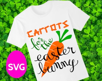 Carrots for the Easter Bunny SVG file for Cricut and Silhouette, a very cute Easter sayings SVG design that looks great on a Easter plate