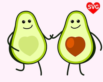 Love Avocadoes SVG File, Heart Shaped Love Avocado SVG, Cute Avocado shirt design, Cinco de Mayo Shirt SVG Design, Heart Avocado Clipart