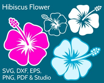 Hibiscus SVG Flower Clipart