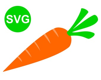 Carrot SVG File for Cricut & Silhouette and Carrot printable Clipart