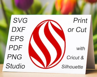 Swirl Easter Egg SVG file for Cricut and Silhouette, a beautiful Easter Egg clipart with a color swirl