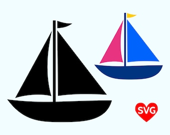 Sailboat SVG File, Sailing SVG file for Cricut, Sailboat Clipart Printable, Sail Boat Silhouette, Nautical Svg Clipart, Summer SVG Files
