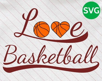 Love Basketball SVG Design to make cards, gifts or tshirts for Basketball players and lovers