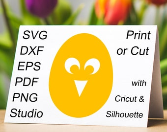 Chick Easter Egg SVG file and printable clipart