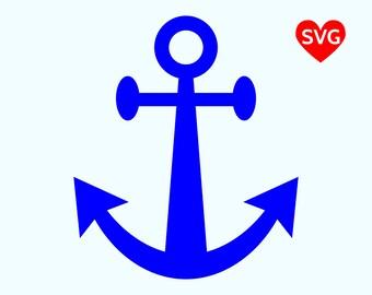 Anchor SVG File, Anchor SVG file for Cricut, Anchor Clipart Printable, Anchor Silhouette, Nautical Svg Clipart, Summer SVG Files