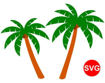 Palm Tree SVG File for Cricut, 2 Palm Tree clipart printables and SVG cut files