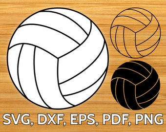 Volleyball Ball SVG Design, Cut file for Cricut & Silhouette, SVG Volley Ball Vector Clipart, dxf, eps, png, pdf files