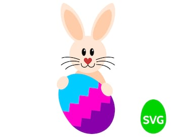 Easter Egg Hunt SVG files: Easter Bunny and Easter Egg SVG cut files and printable clipart