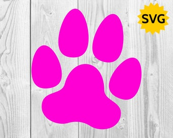 Dog Paw Print SVG, Paw SVG cut file, Dog Paw for Cricut & Silhouette, Dogs SVGs, Paws SVG file, Dog Paw clipart
