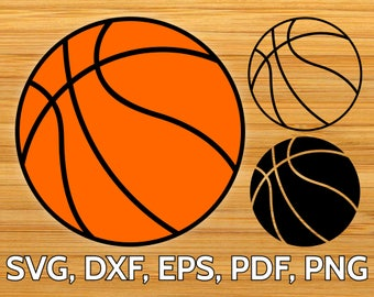 SVG Basketball Ball Cut File optimized for Cricut & Silhouette  - Basket Ball SVG Design to Print or Cut - Basket Ball Clipart Vector