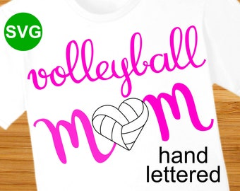 Volleyball Mom SVG File and Printable Clipart to make a Volleyball Mom shirt or gift to wear during the game to cheer the team!