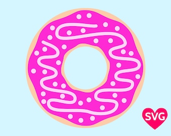 Glazed Donut with Sprinkles of Candy SVG file and clip art PDF
