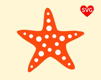 Starfish SVG File, Star Fish SVG file for Cricut, Beach Starfish Clipart Printable, Beach Svg Files, Summer SVG File, Starfish Clip Art