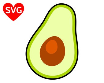 Avocado SVG File for Cricut and Silhouette and printable Avocado clipart