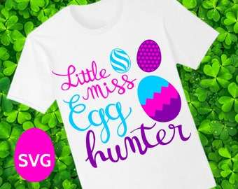 Easter Little Miss Egg Hunter SVG file to make a very cute Easter shirt for girl to wear for the Easter Egg Hunt