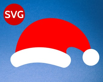 Santa Hat SVG for Cricut & Silhouette - Santa Hat DXF, PNG, pdf, Santa Claus Hat design, Santa Hat Cricut file
