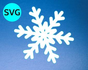 Snowflake SVG file for Cricut & Silhouette, SVG Snowflake clipart and cut file, Snowflake SVG design