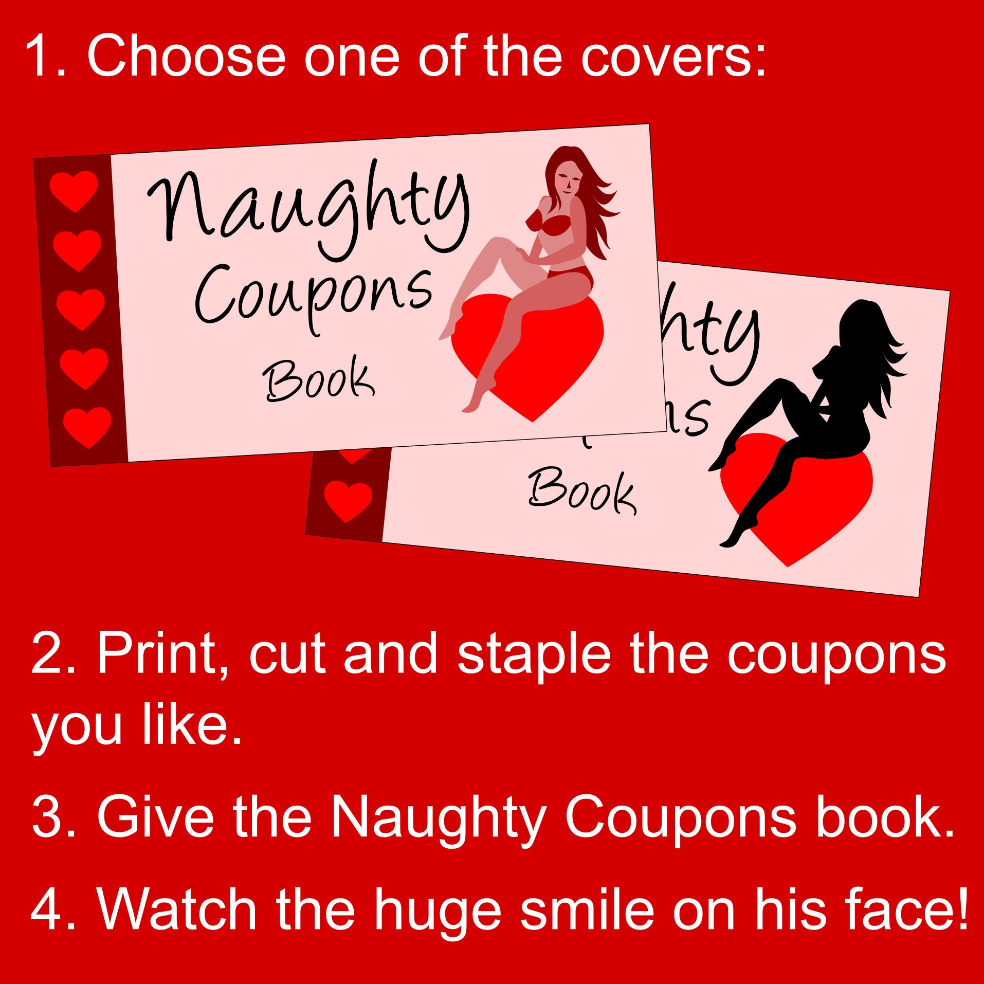 photograph about Staple Printable Coupons called Valentines Working day Reward for Him: Alluring Printable Naughty Coupon codes