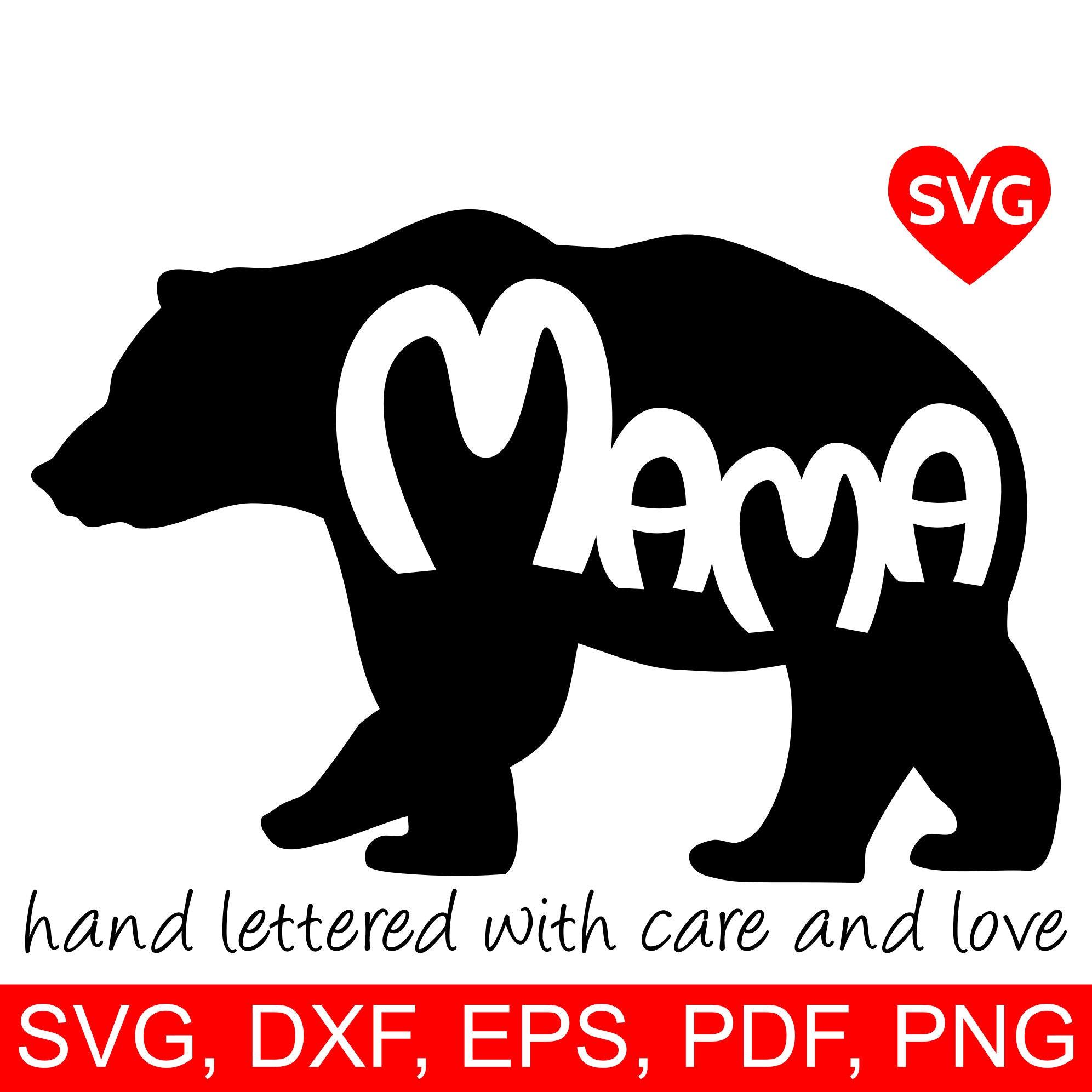 Download Momma Bear * Papa Bear * Baby Bear * Bear Family Cut File Design