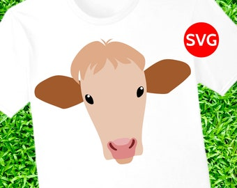 Heifer SVG file, Heifer Cow printable clipart and SVG cut file for Cricut & Silhouette
