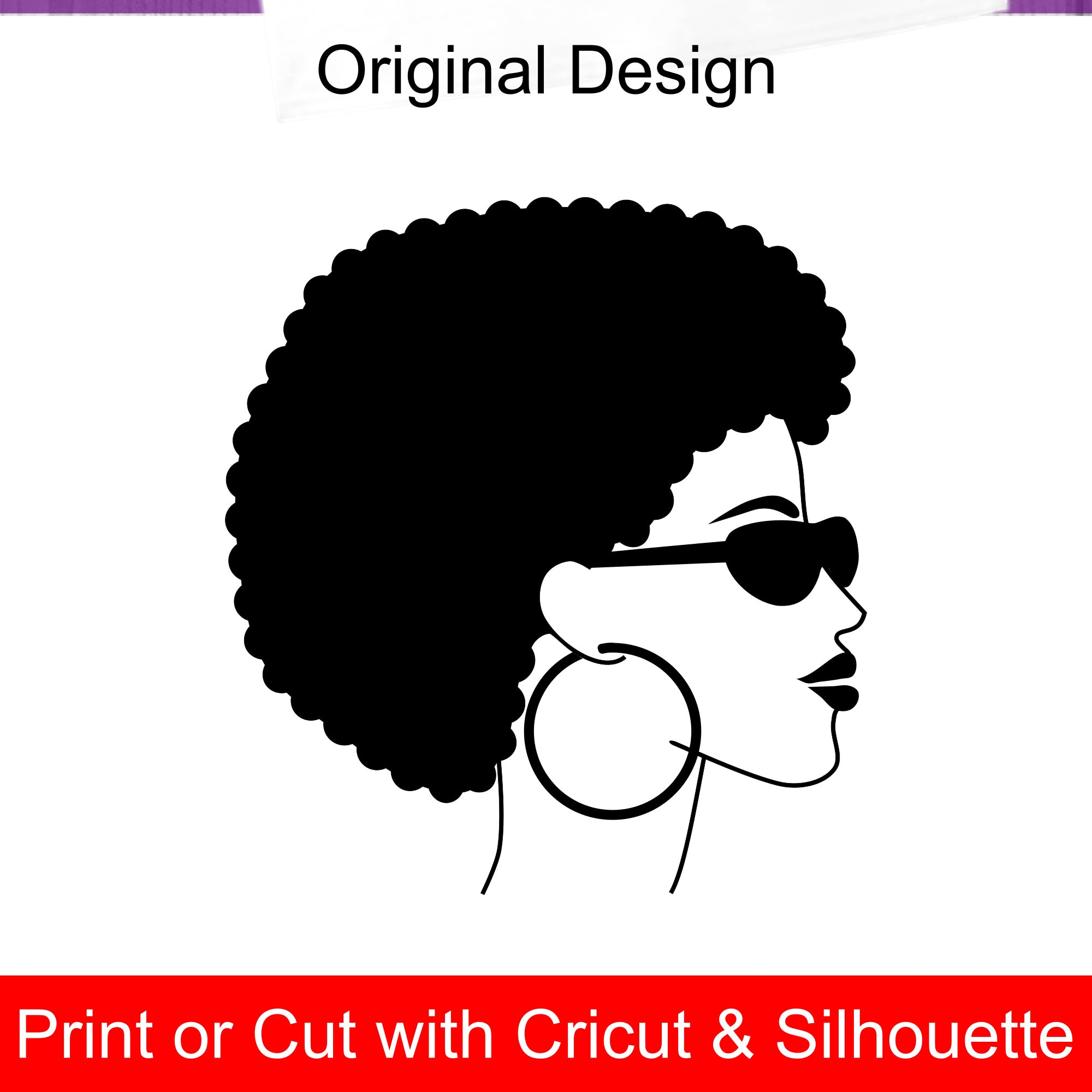e5ab649567 Afro Woman SVG file with shades