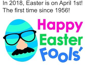 Happy Easter Fools SVG Easter Egg Svg with Mustache, Joke Nose and Glasses, Funny April Fools Day SVG, Easter Svg file, Easter Egg clipart