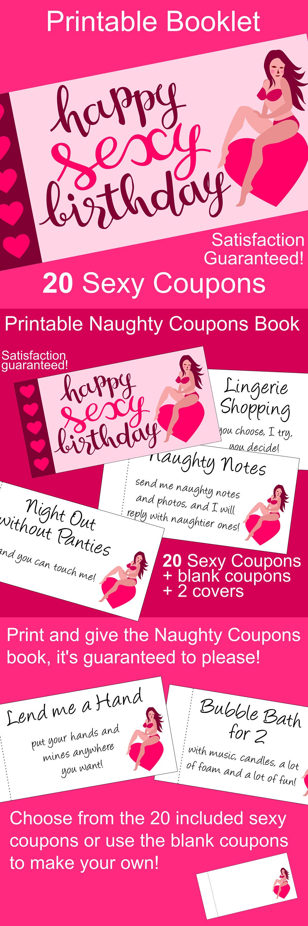 Sexy Birthday Gift For Him: Printable Naughty Coupons Book