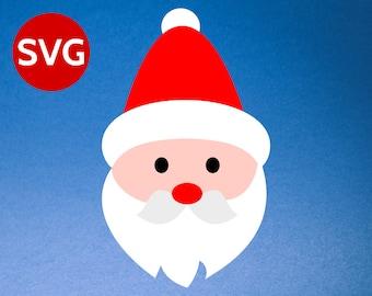 Santa Face SVG - Santa Face Clipart - Santa Claus SVG - Santa SVG - Christmas SVGs files for Cricut & Silhouette