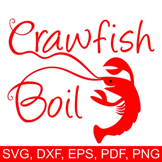 Crawfish Boil Svg File Printable Crawfish Boil Invitation Etsy