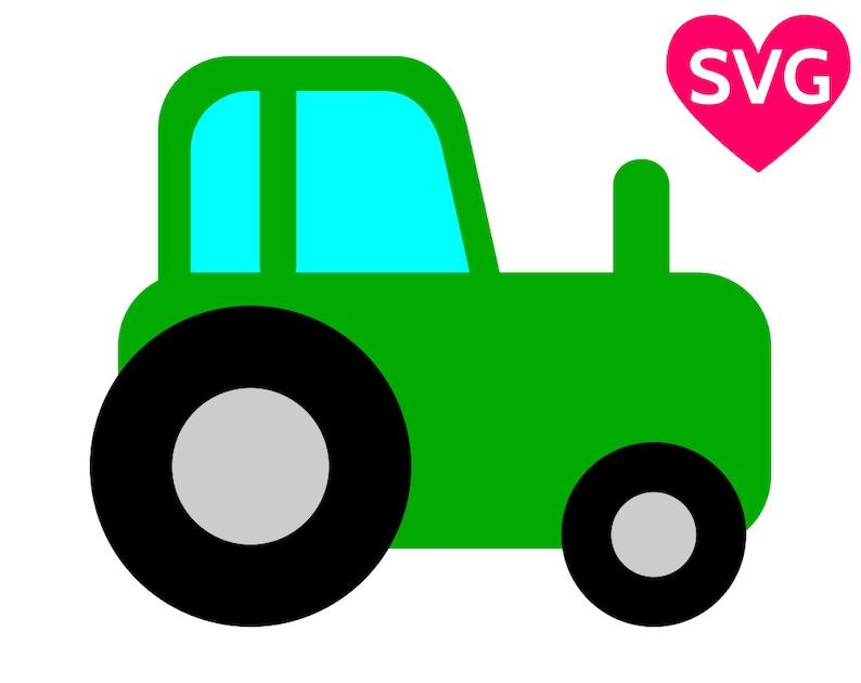 Tractor Svg File For Cricut Silhouette Farm Tractor Etsy