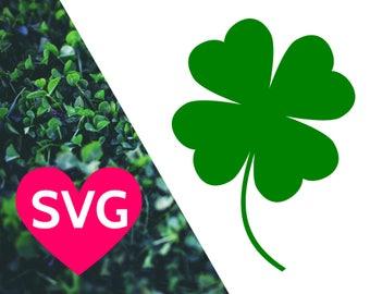 4 leaf clover SVG file for Cricut & Silhouette, Lucky 4 leaf clover clipart, Shamrock SVG, St Patrick's Day SVG files, 4 leaf clover dxf