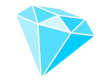Blue Diamond SVG file to make Engagement invites and cards